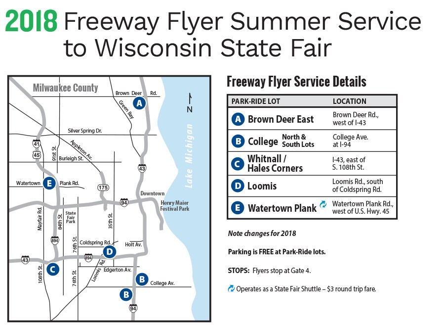 2018 Freeway Flyer Summer Service to Wisconsin State Fair