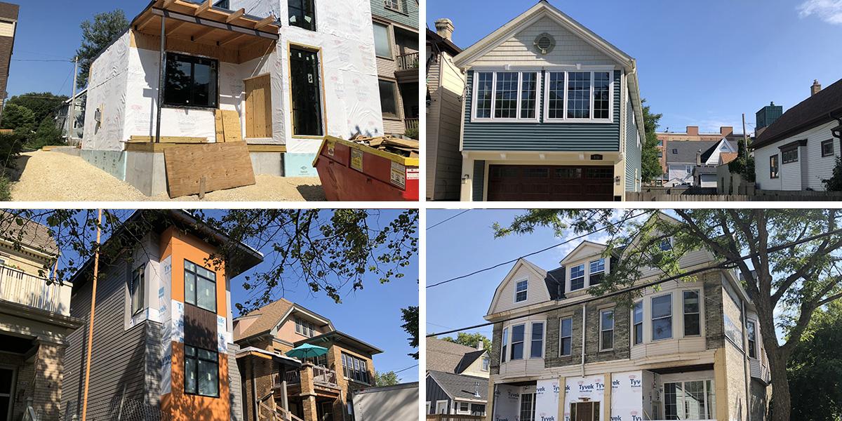 New homes near Brady St. Photos by Jeramey Jannene.