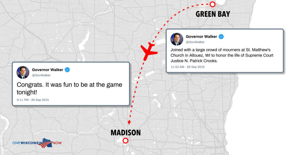 Green Bay to Madison.