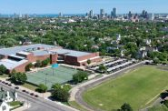 An aerial view of North Division High School shows its sports fields and proximity to downtown. Photo courtesy of Wes Tank.