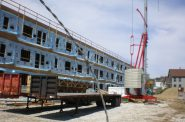 Construction of Hide House Lofts in Bay View.