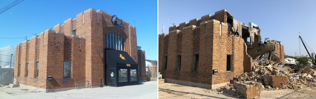 The MFD High Pressure Pumping Station. Left photo - Audrey Jean Posten, right photo - Jeramey Jannene.