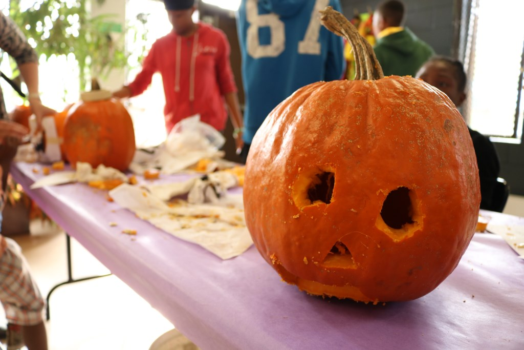 Pumpkin Carving. Photo courtesy of the Urban Ecology Center.