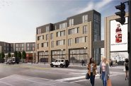 Korb + Associates Architects design for a building at the corner of W. Atkinson Ave. and N. Dr. Martin Luther King Jr. Dr.
