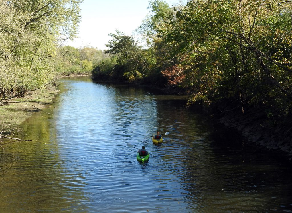The Des Plaines River flows south from Racine County and through the Chicago suburbs. Photo by Brian Plunkett (CC BY 2.0)