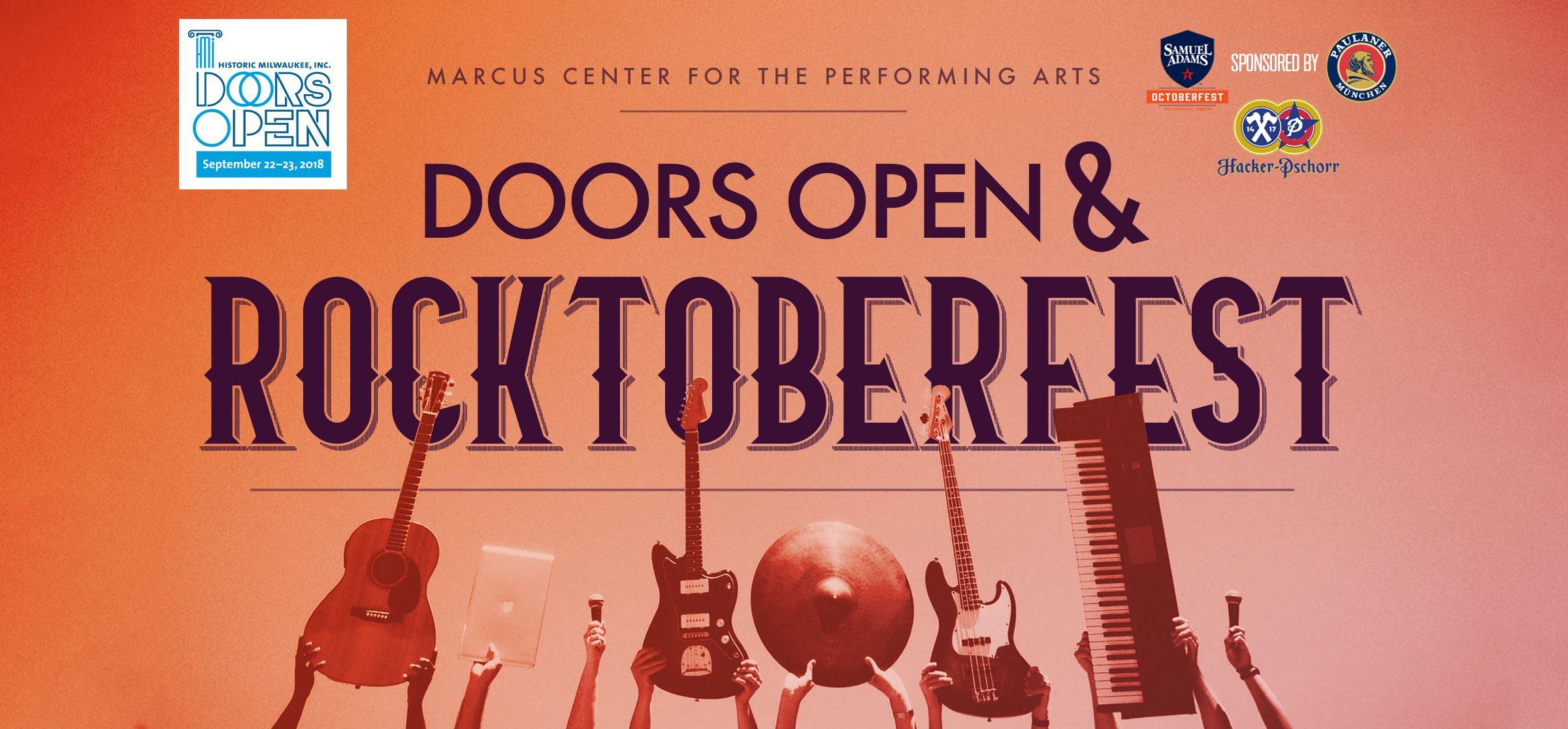 The Marcus Center Hosts ROCKTOBERFEST During Doors Open Milwaukee!