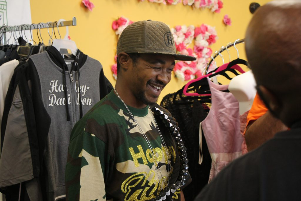 Mike Hodges, the owner of Happy Hustlin', says the business has turned his life around. Photo by Grace Connatser/NNS.