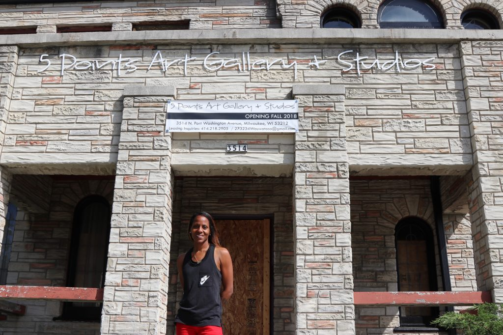 Fatima Laster is renovating the 5 Points Art Gallery and Studios. Photo by Max Nawara/NNS.