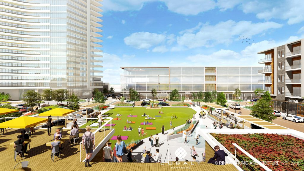 One North: Plaza. Rendering by Rinka Chung Architecture.