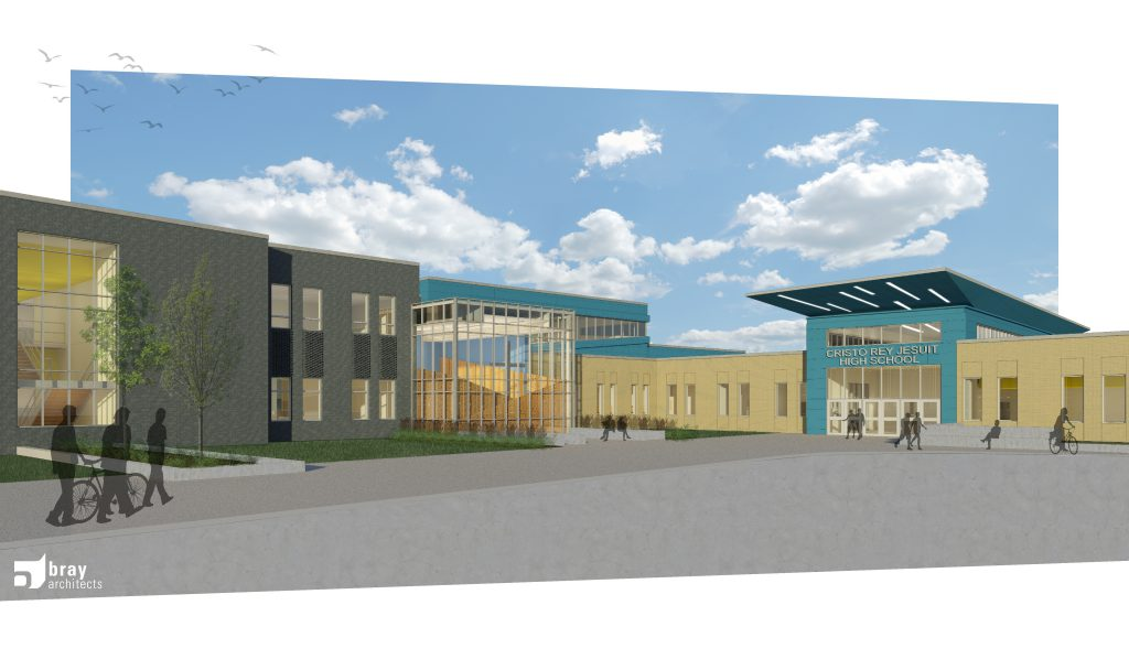 Cristo Rey Jesuit High School Milwaukee Rendering. Rendering by Bray Architects.
