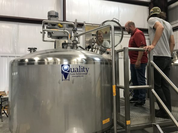 Tank by Quality Tank Solutions. Photo courtesy of Enlightened Brewing Co.