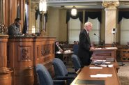 Mayor Tom Barrett speaking before the Milwaukee Common Council. Photo by Jeramey Jannene.