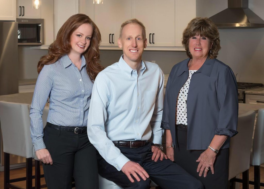 Sara Baumgartner, Jay Baumgartner & Julie Baumgartner. Photo courtesy of Keller Williams Realty, Inc.