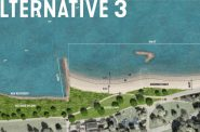 South Shore Beach Alternative 3 Rendering. Rendering by the Smith Group.