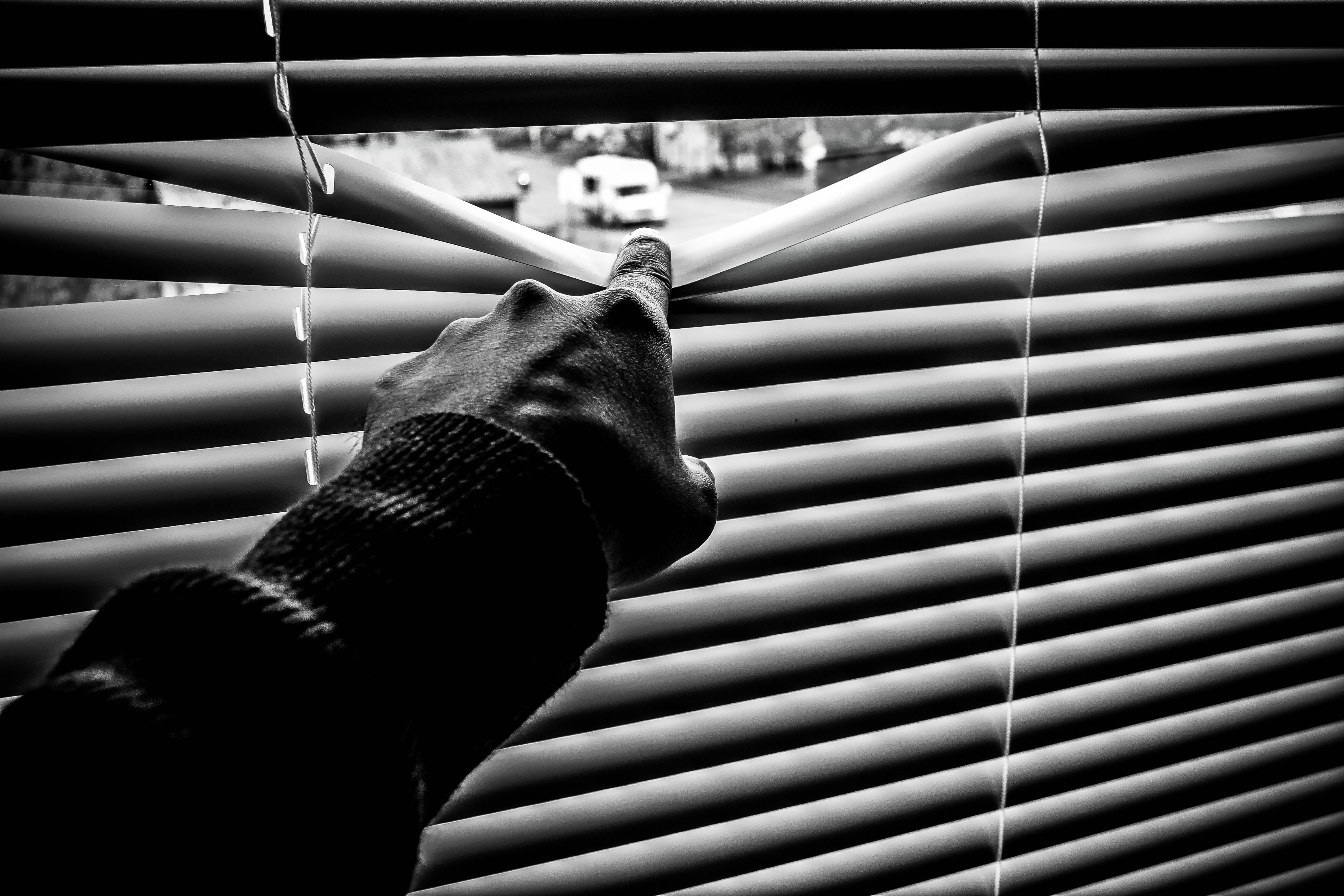 Black and white blinds. Photo by Hammad Bhatti from Pexels.