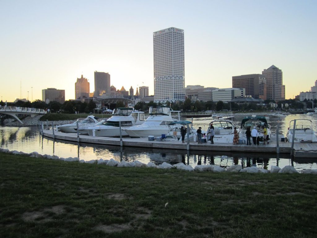The boat slips at Lakeshore State Park. Photo courtesy of the Friends of Lakeshore State Park.