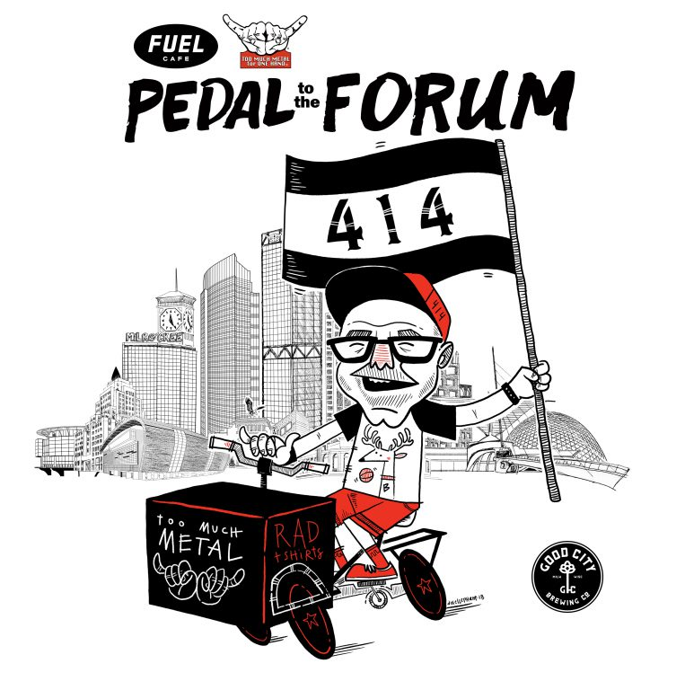 Pedal to the Forum. Image by Too Much Metal.