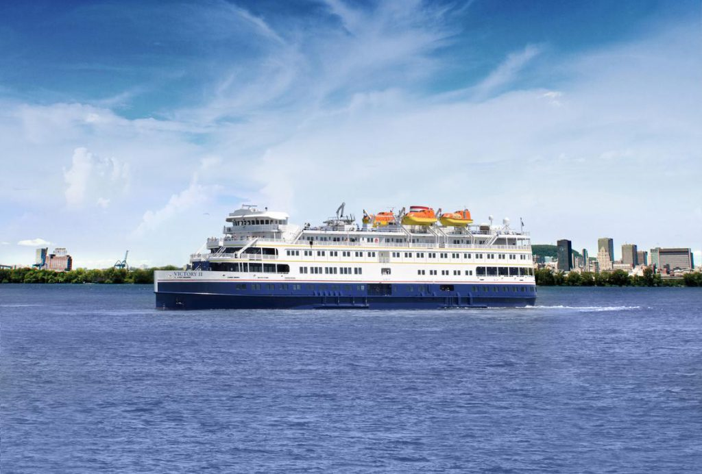 The Victory II (above) is a sister ship of the Victory I. Photo from Victory Cruise Lines.