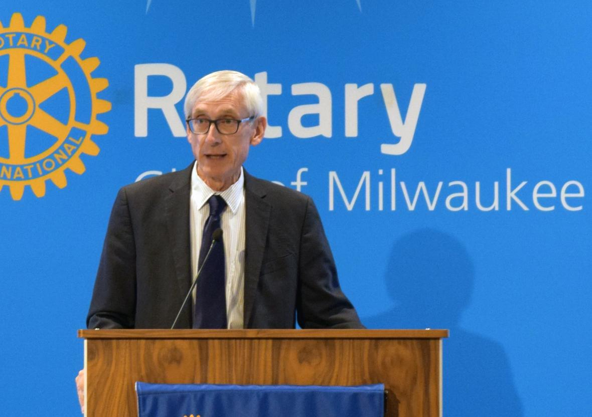 Tony Evers. Photo by Ximena Conde/WPR.