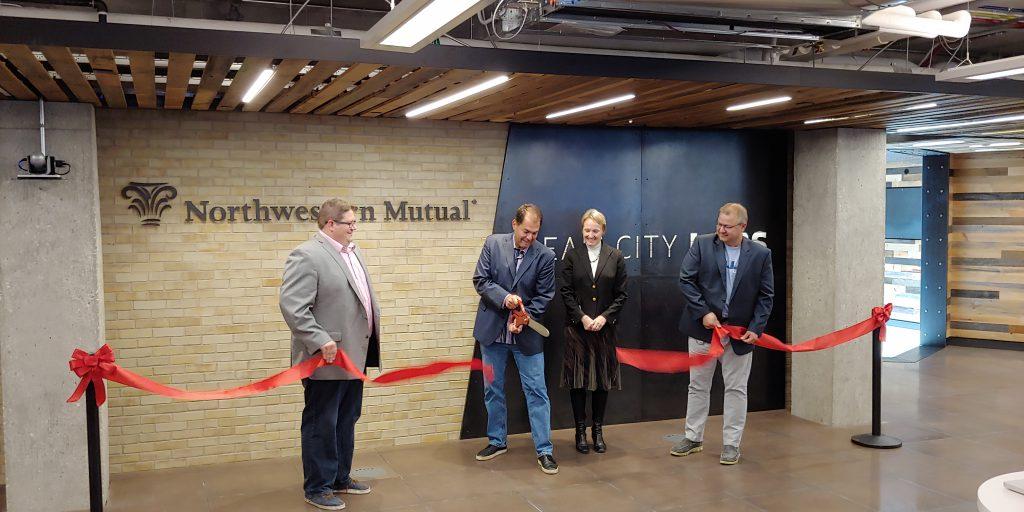 Ceremonial ribbon-cutting launches Cream City Labs. Photo by Zach Komassa.