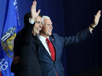 Race for Governor: Pence Touts Walker, Foxconn