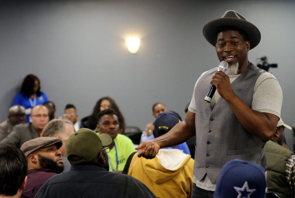 David Banner, a Grammy-Award-winning hip-hop artist, gives the keynote speech at the 2018 Fatherhood Initiative Summit. Photo by Max Nawara/NNS.