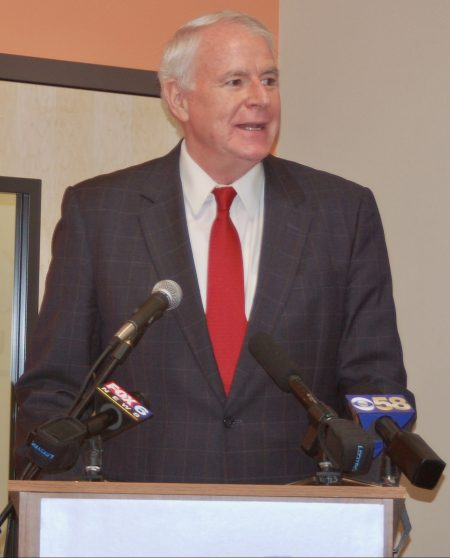 Mayor Tom Barrett said he hopes that the new Children's Savings Account program will encourage young students to seek higher education. Photo by Andrea Waxman/NNS.