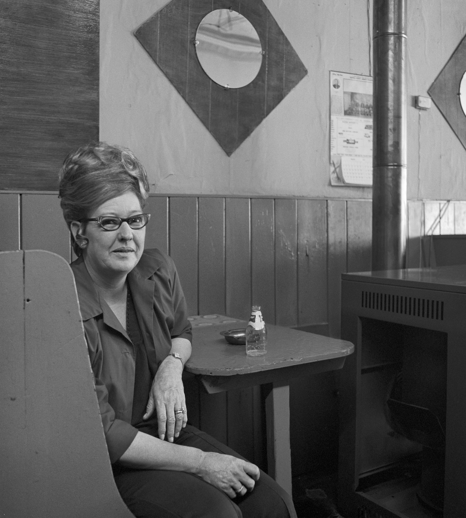 Dessie Higgenbottom Proprietress Dessie's Bar & Grill, Pocahontas, VA 1974. Photo courtesy of the Grohmann Museum.