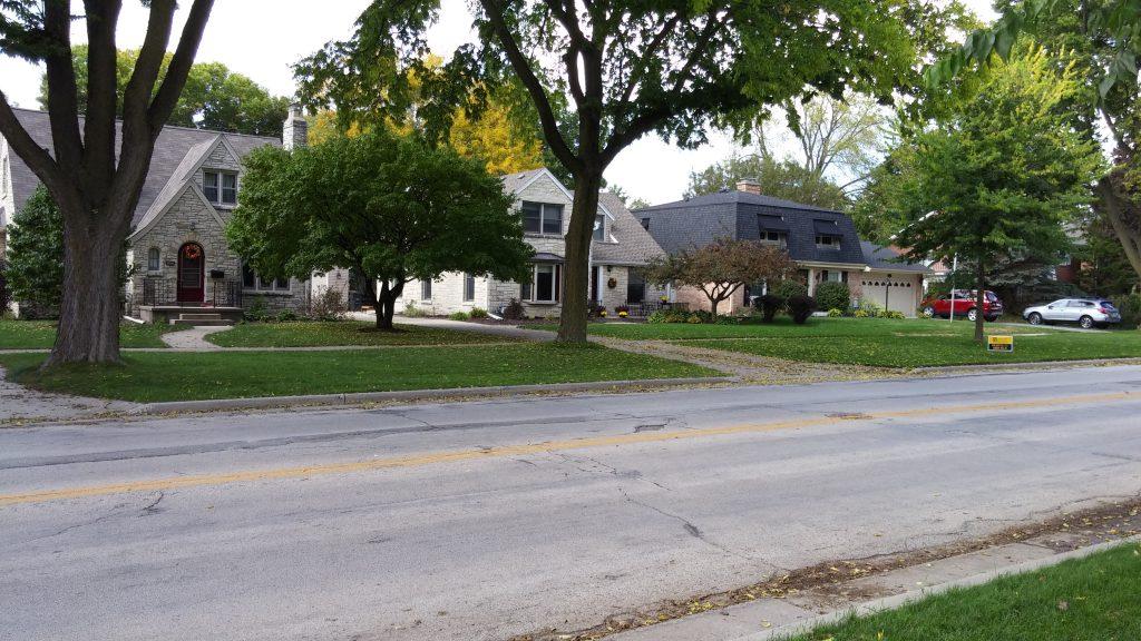 N. Swan Boulevard homes. Photo by Carl Baehr.