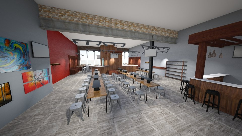 New Splash Studio interior rendering