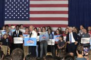 Former Vice President Joe Biden campaigned for Wisconsin Democrats Tuesday, Oct. 30, 2018 in Madison. Laurel White/WPR.