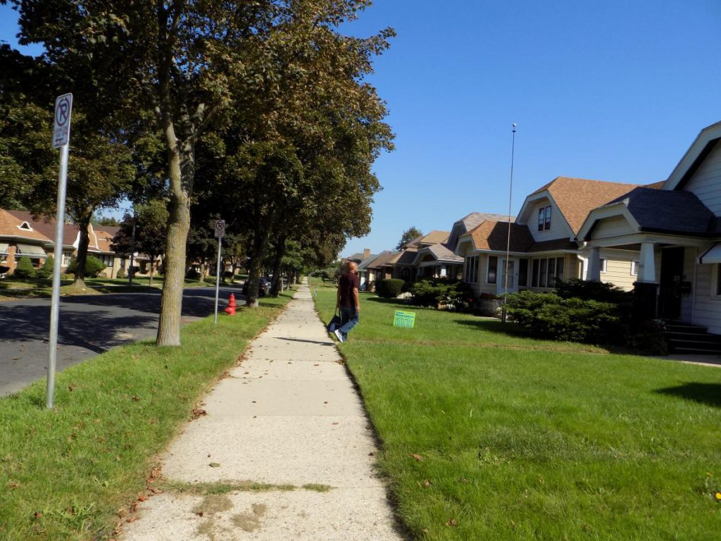 Derrick Etherly had never canvassed before but after a visit from Anita Johnson, he volunteered to encourage people in Milwaukee to vote in the November election. Photo by Ximena Conde/WPR.