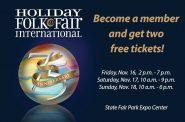 Free Holiday Folk Fair International Tickets!