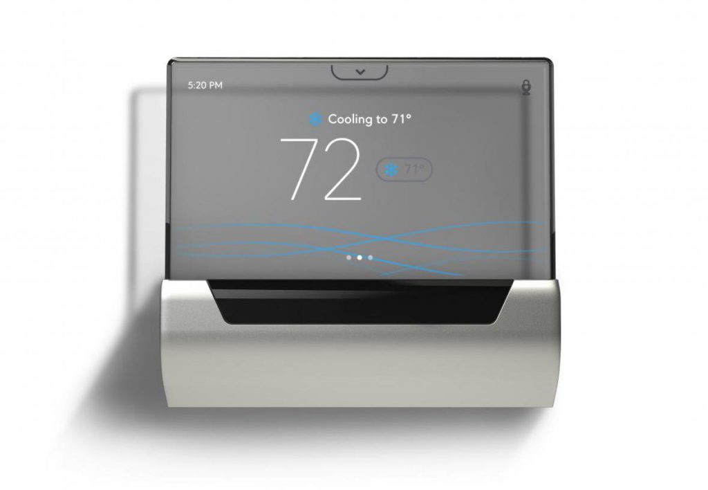 A smart thermostat made by Johnson Controls. Photo courtesy of Johnson Controls.