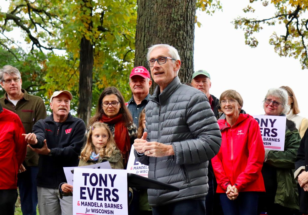 Tony Evers. Photo from Tony for Wisconsin.