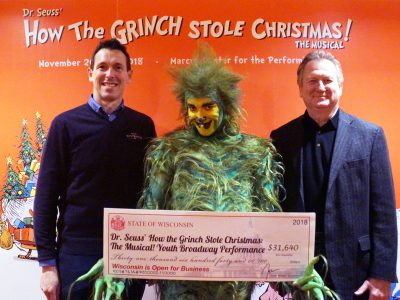The Grinch Gets Ready for His Debut in Milwaukee With Help from Tourism Grant