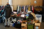 The MacCanon Brown Homeless Sanctuary distributes free clothing to people who are needy. Photo by Sarah Lipo/NNS.