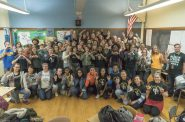 Students at Rufus King took a photo showcasing their diversity, positivity and compassion in response to a racist photo that got national attention. Photo courtesy of Joe Brusky/NNS.