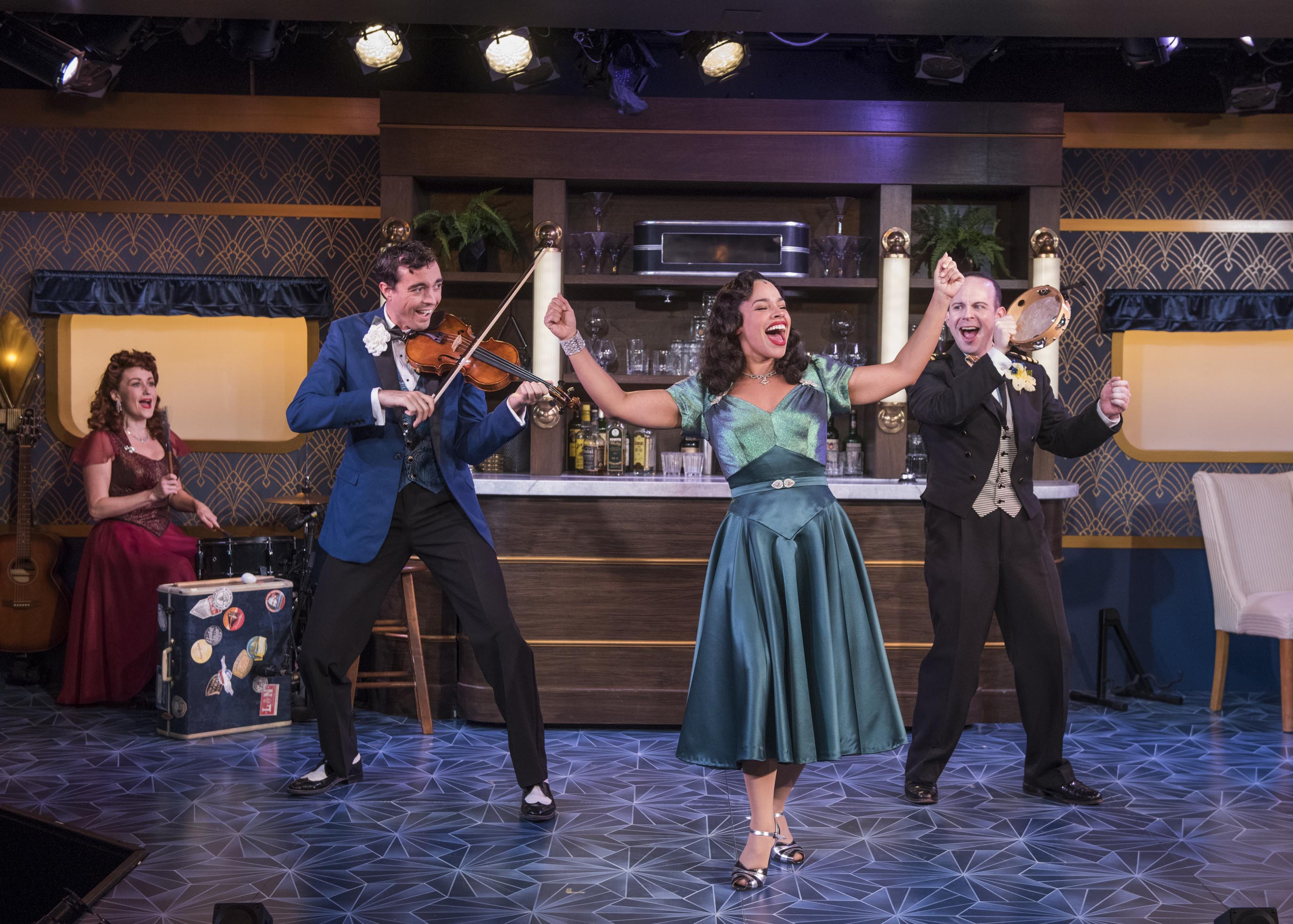 Milwaukee Repertory Theater presents The All Night Strut! in the Stackner Cabaret from November 9, 2018 – January 13, 2019. Left to Right: Kelley Faulkner, Brian Russell Carey, Katherine Thomas, Jonathan Spivey. Photo by Michael Brosilow.