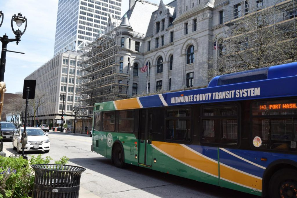 MCTS Bus. Photo by Gretchen Brown/WPR.