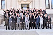Baraboo High School students appear to make the Sieg Heil salute