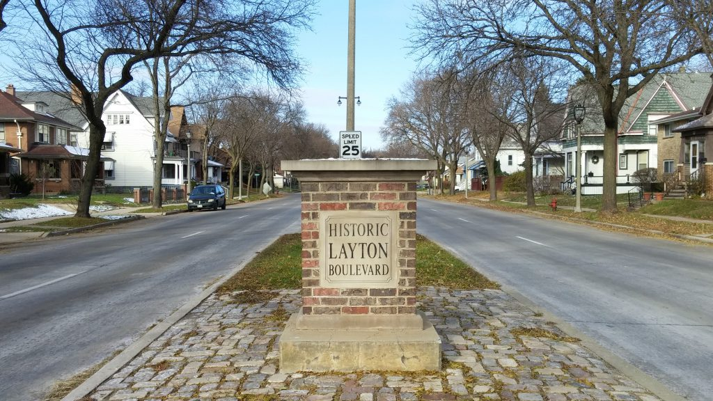 Historic Layton Boulevard marker. Photo by Carl Baehr.