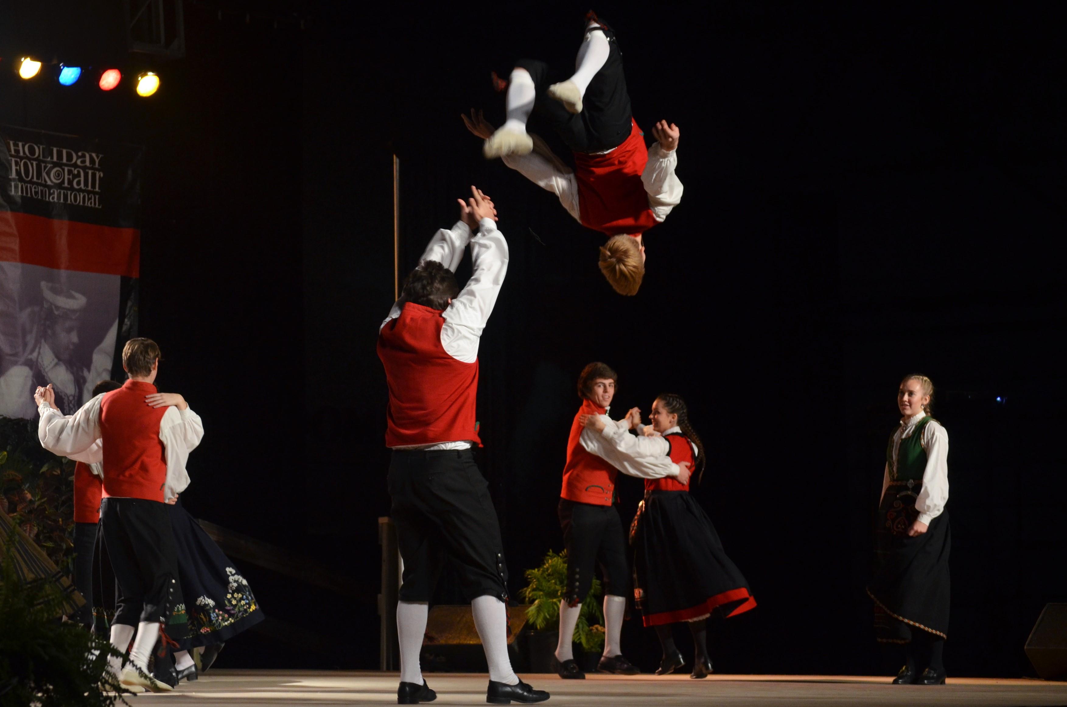 Scandinavian dance group. Photo by Jack Fennimore.