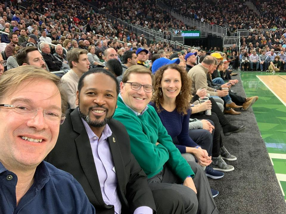 Chris Abele, Ashanti Hamilton, Scott Neitzel and Jennifer Gonda. Photo by Chris Abele.