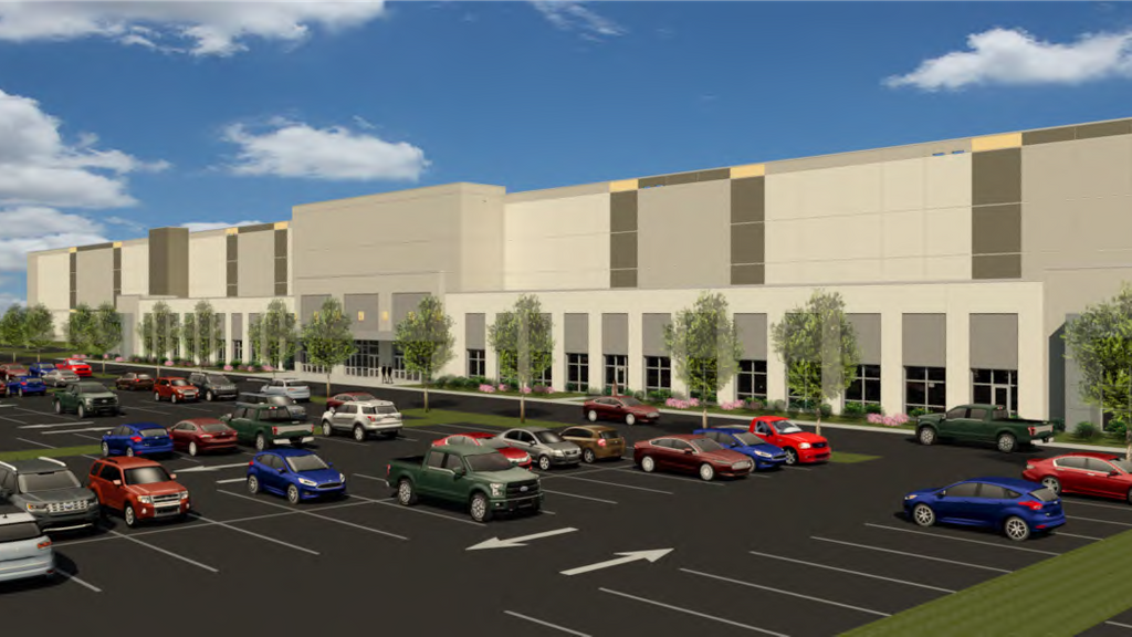 Rendering of Amazon's Oak Creek facility. Rendering from BL Companies and the City of Oak Creek.