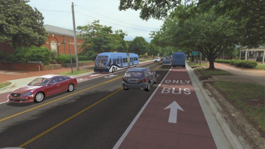 Rendering of Milwaukee County Bus Rapid Transit.