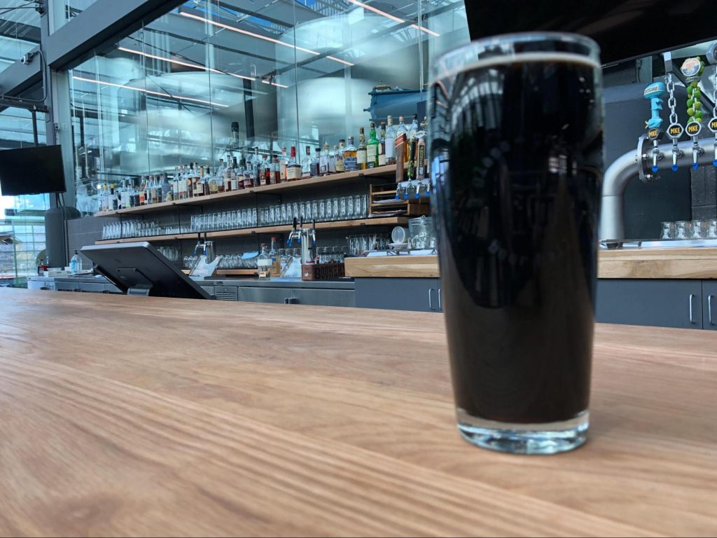 Stout beer at Glass + Griddle. Photo courtesy of F Street Group.