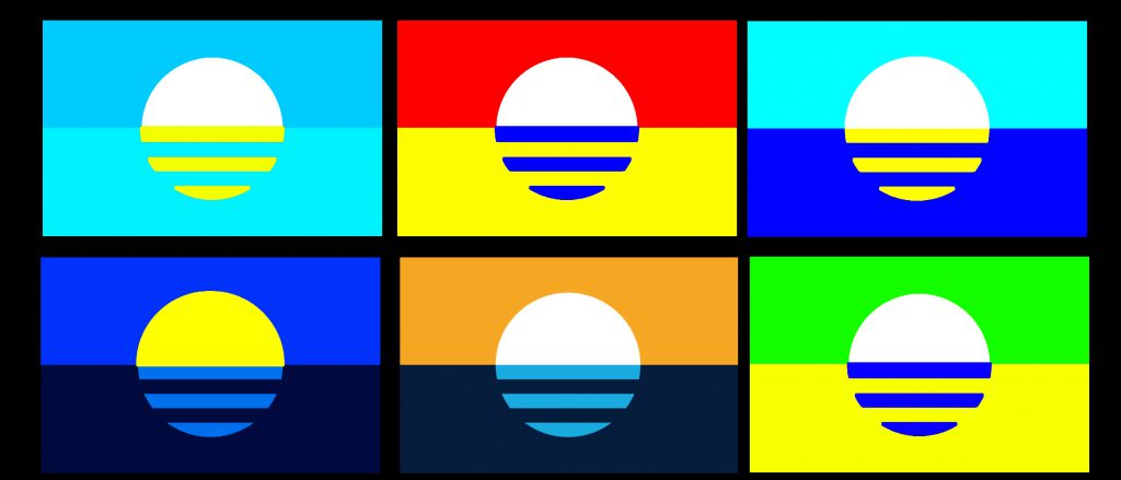 People's Flag color study. Image by Tom Bamberger.