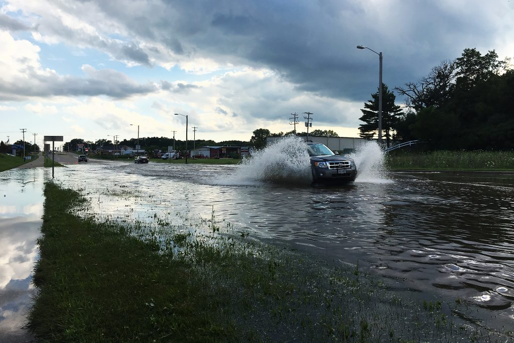 Flooding in Burlington, WI in 2017. Photo by Capt. Joe Trovato/Wisconsin Department of Military Affairs.