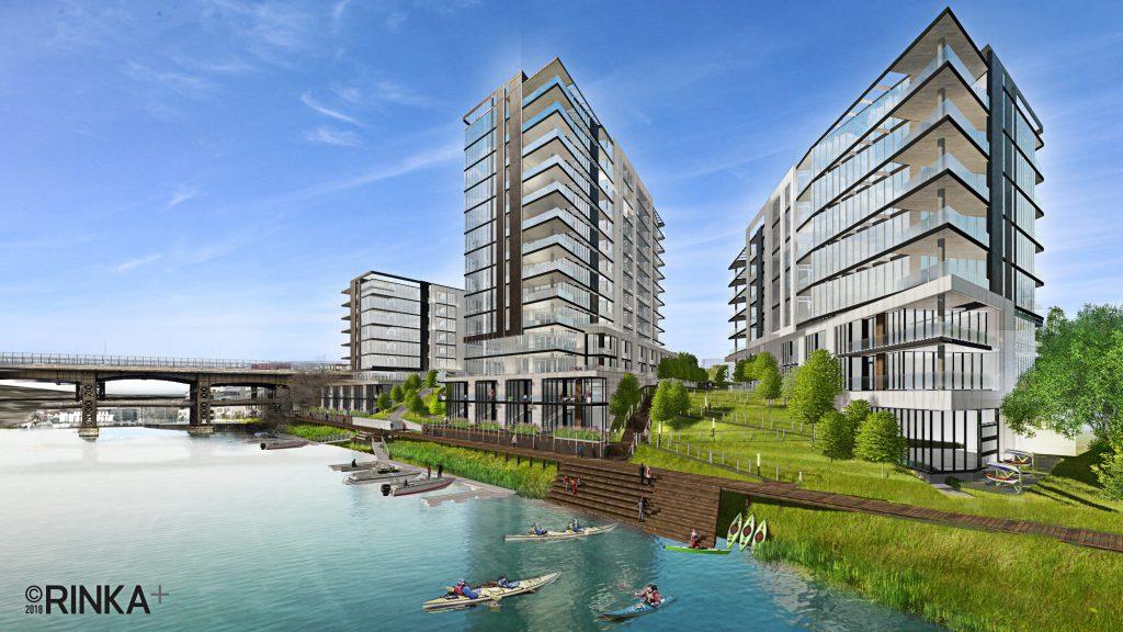 Brady & Water condominium rendering. Rendering by RINKA.
